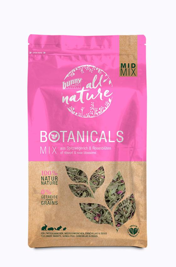 BOTANICALS MID MIX - Mix aus Spitzwegerich & Rosenblüten Packung
